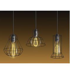 Retro incandescent light bulbs with lattice vector