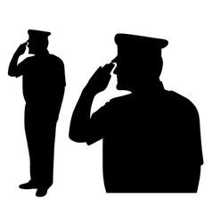 Saluting side view vector