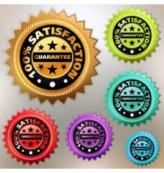 satisfaction labels vector image