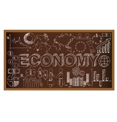 School board doodle with ecomony symbols vector