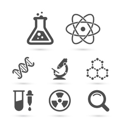 Science trendy icons pack elements vector