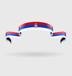 Serbian flag background vector