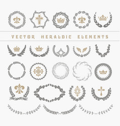 set laurel wreath - symbol of victory and vector image