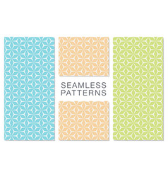 set of minimalist seamless patterns hexagonal vector image