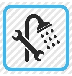 Shower Plumbing Icon In a Frame vector