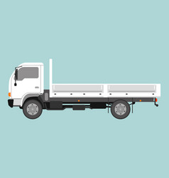 small dump truck flat style vector image