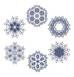 Snowflake symbol vector image
