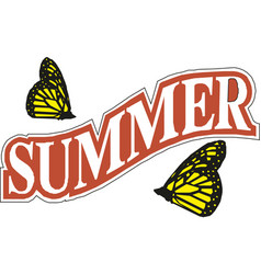 summer time banner design vector image