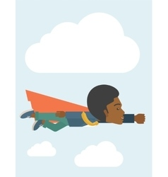 Superhero black businessman vector
