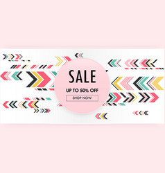 sweet abstract geometric pink background sale vector image