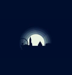Uk belfast skyline silhouette vector