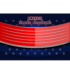 usa backgrounds flag style vector image