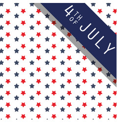 Usa independence day red and blue stars background vector