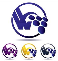 Vine grape icon vector