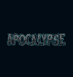 Vintage electric apocalypse lettering vector