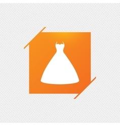Wedding dress sign icon Elegant bride symbol vector image