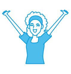 woman happy cartoon vector image