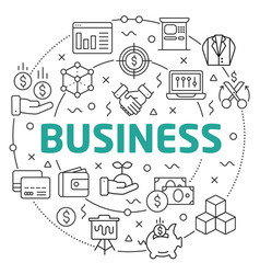 business linear slide for the vector image vector image