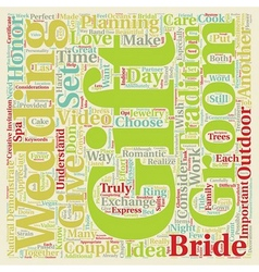 Perfect Gifts For Both The Bride and Groom text vector image