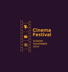 cinema festival emblem vector image