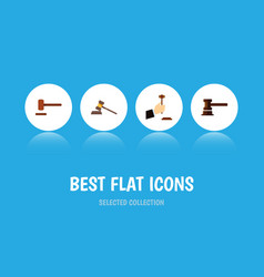 flat icon court set of defense government vector image vector image
