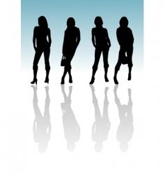 girl silhouette vector image