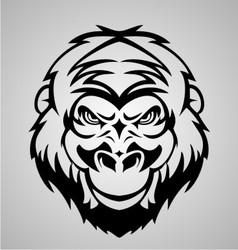 Gorilla Face Tribal vector image