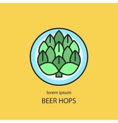 Hop cones craft beer vector image vector image