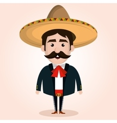mexican mariachi character classic vector image
