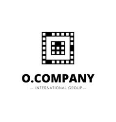 minimal style geometric O letter logo vector image vector image
