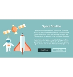 Space Shuttle and Astronomy Web Page vector image
