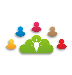Teamwork results in creating ideas vector image vector image
