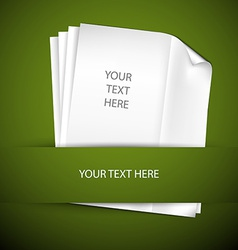 backround with papers and place for your content vector image
