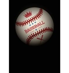 Dark Background of baseball ball vector image
