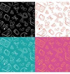 Female things pattern vector image
