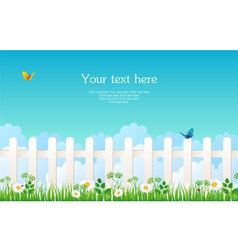 fence with grass vector image vector image