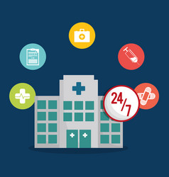 hospital healthy care service icon vector image