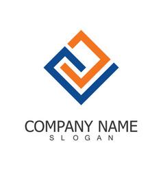 line square company logo vector image