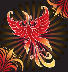 amazing firebird vector image vector image