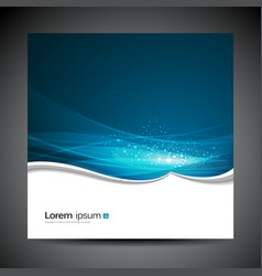 Banners modern wave blue background vector image