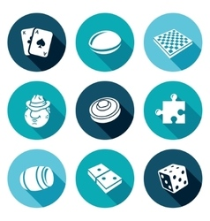 Board games icons set vector
