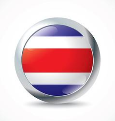 Costa Rica flag button vector image vector image
