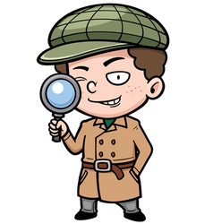 Detective vector image