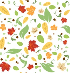 Green Leaves Floral Spring Fall Seamless Pattern vector image vector image