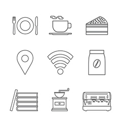 124coffee shop icon outline vector