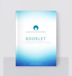 A blue brochure template modern vector