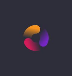 Abstract vortex spin logo icon design vector