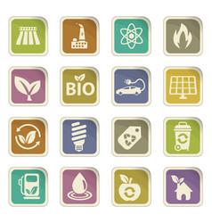Alternative energy icon set vector