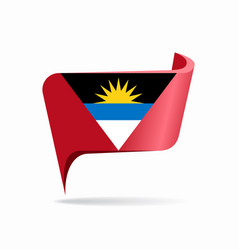 Antigua and barbuda flag map pointer layout vector