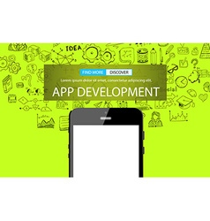 App Development Infpgraphic Concept Background vector image